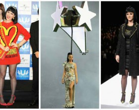 Katy Perry con looks de Moschino